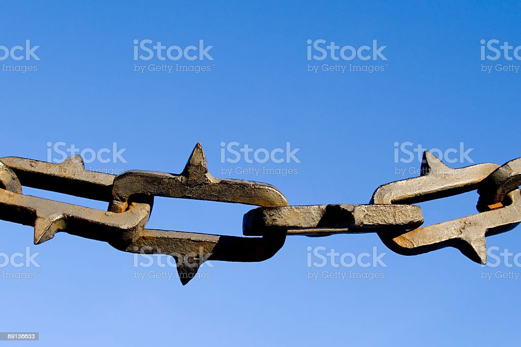 Spiked chain royalty-free stock photo