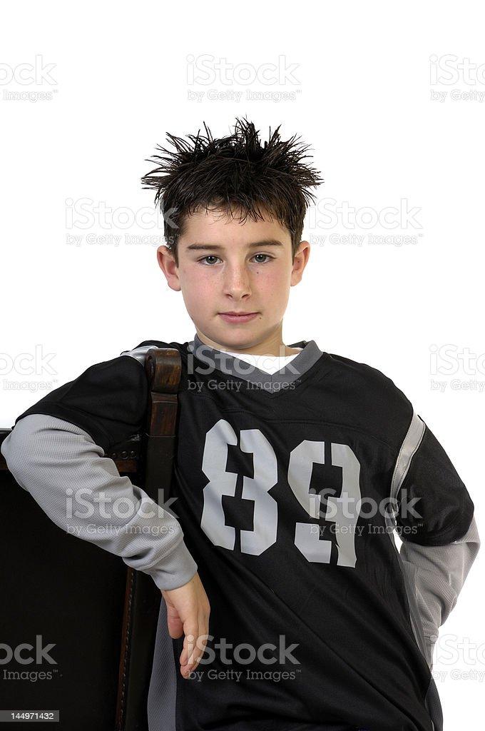 Spiky Hair Boy royalty-free stock photo