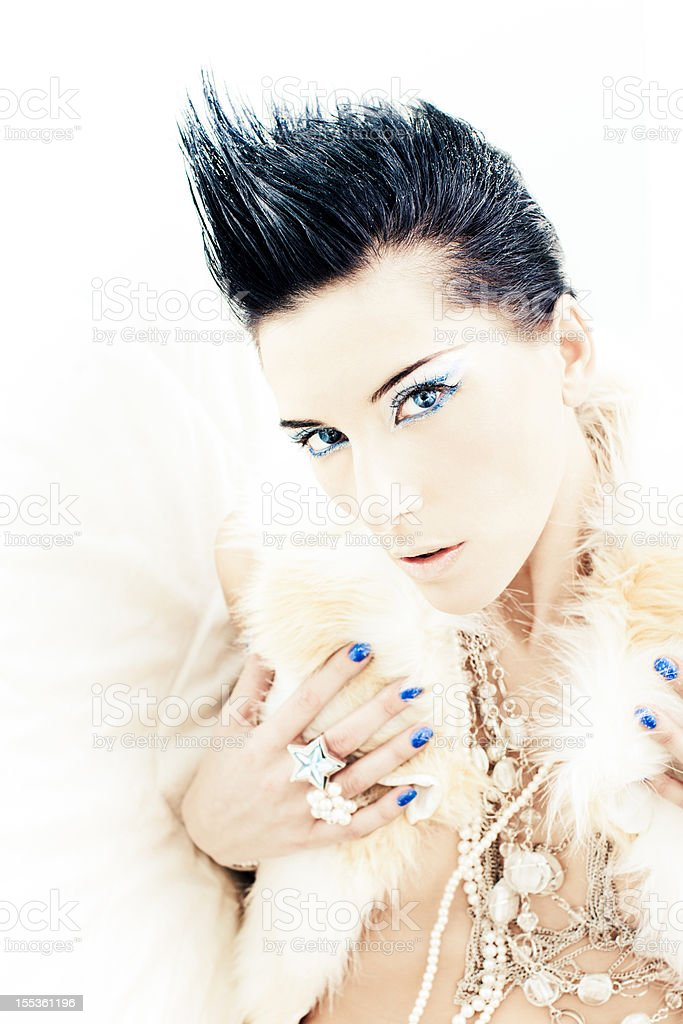 Spiky haircut royalty-free stock photo