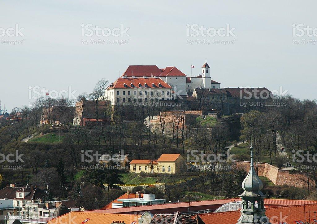 Spilberk castle, Brno stock photo