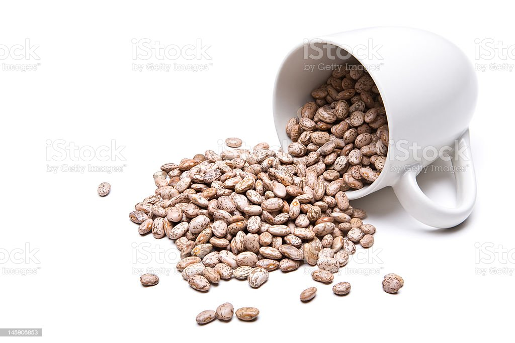 spill the beans stock photo