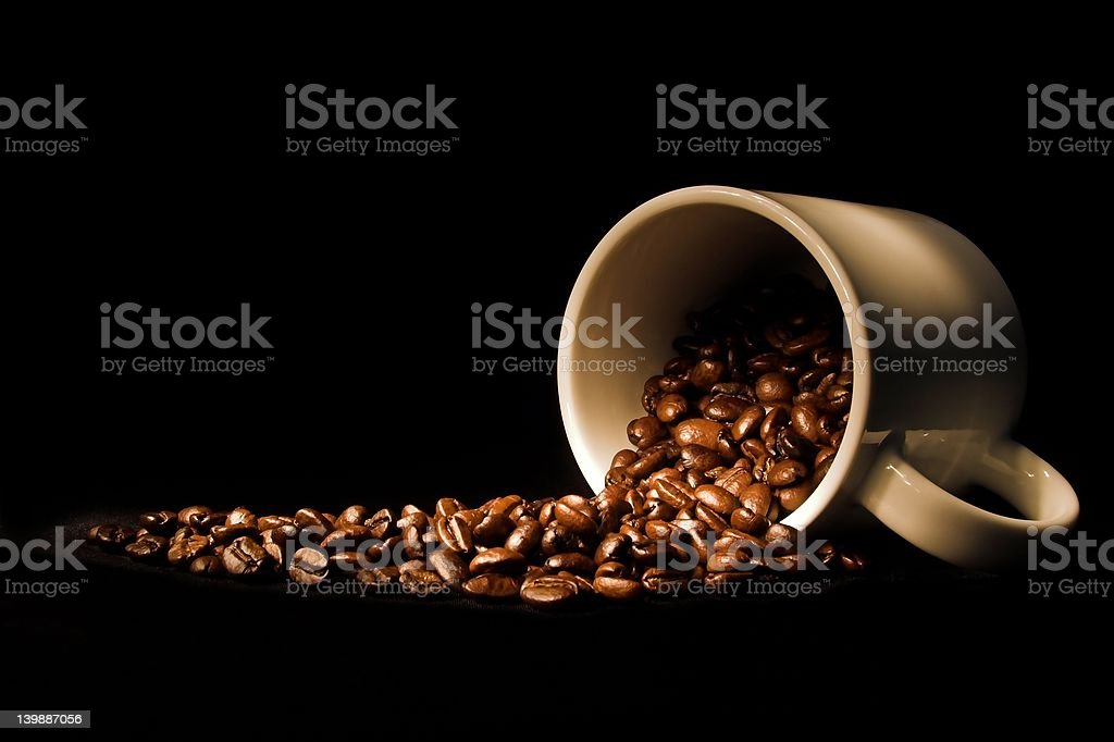 spilled beans royalty-free stock photo
