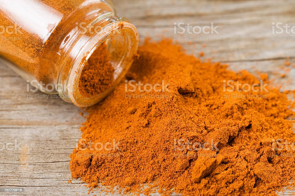 Spilled Cayenne Pepper stock photo