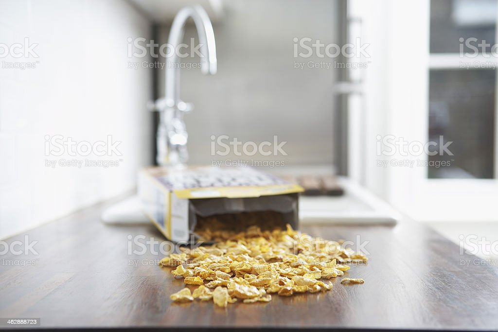 Spilled Cereal stock photo