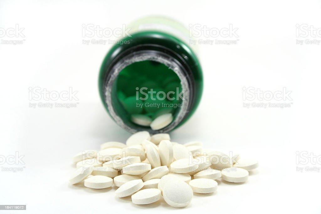 Spilled Folic Acid stock photo
