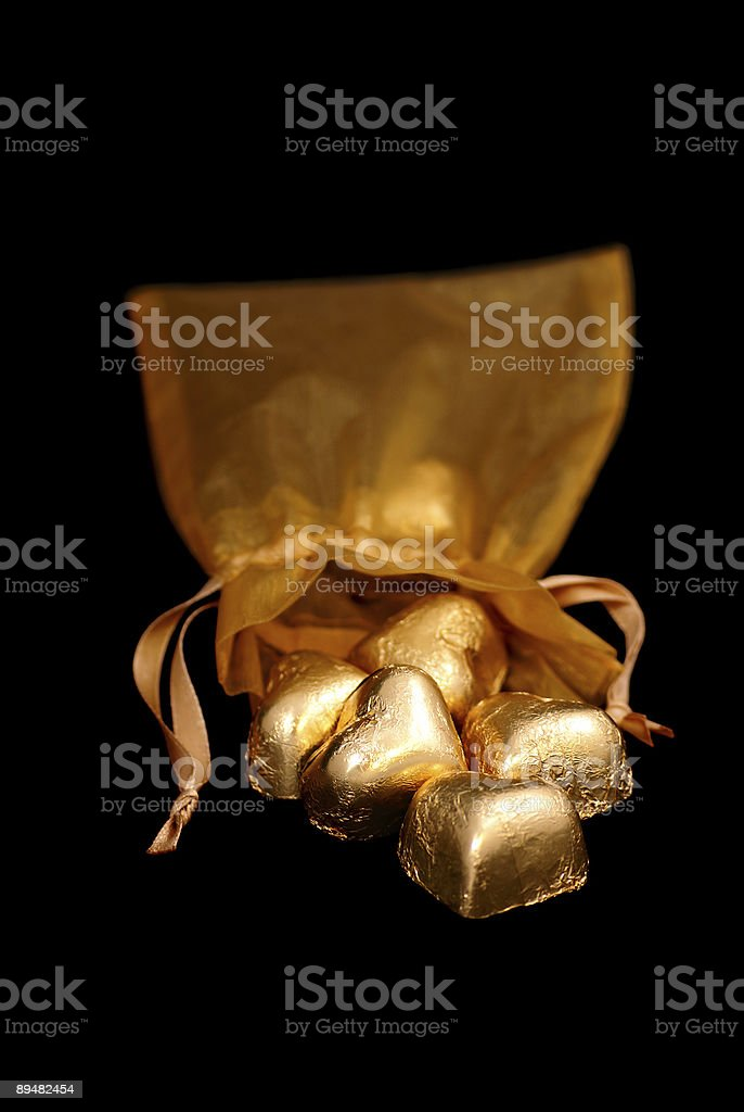 Spilled Hearts of Gold - Series royalty-free stock photo