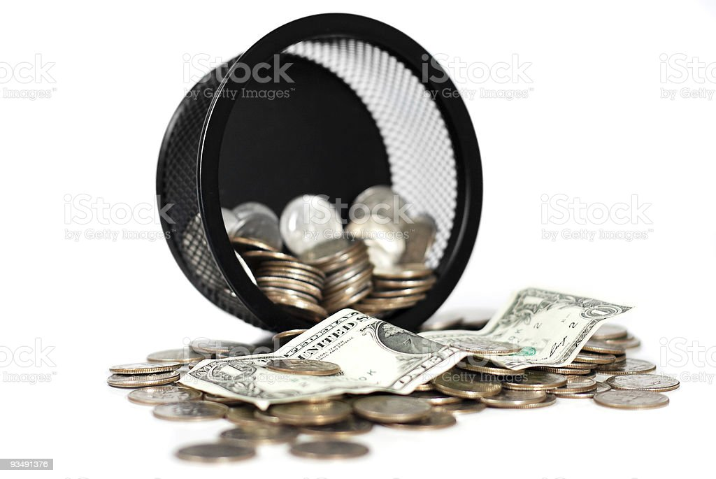 Spilled money royalty-free stock photo