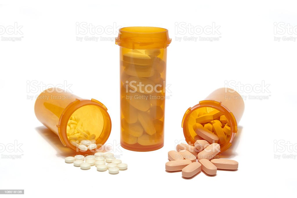 Spilled Prescriptions royalty-free stock photo