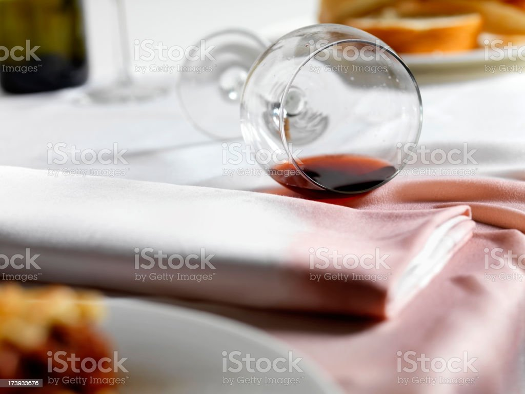 Spilled Red Wine stock photo