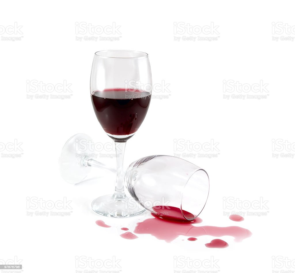 Spilled red wine royalty-free stock photo