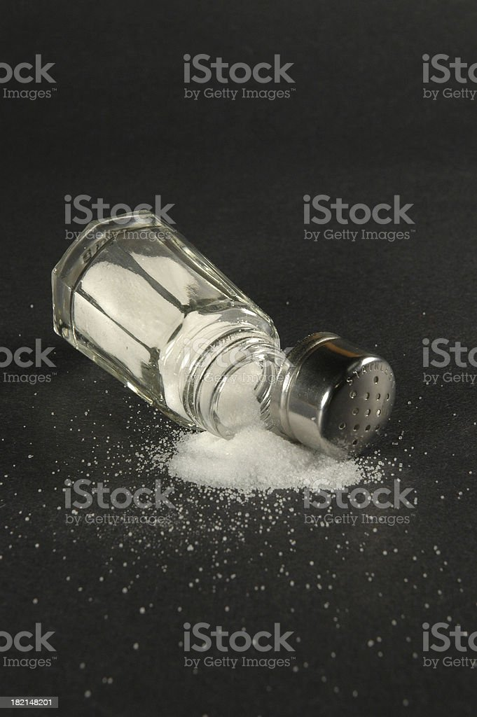 Spilled Salt royalty-free stock photo