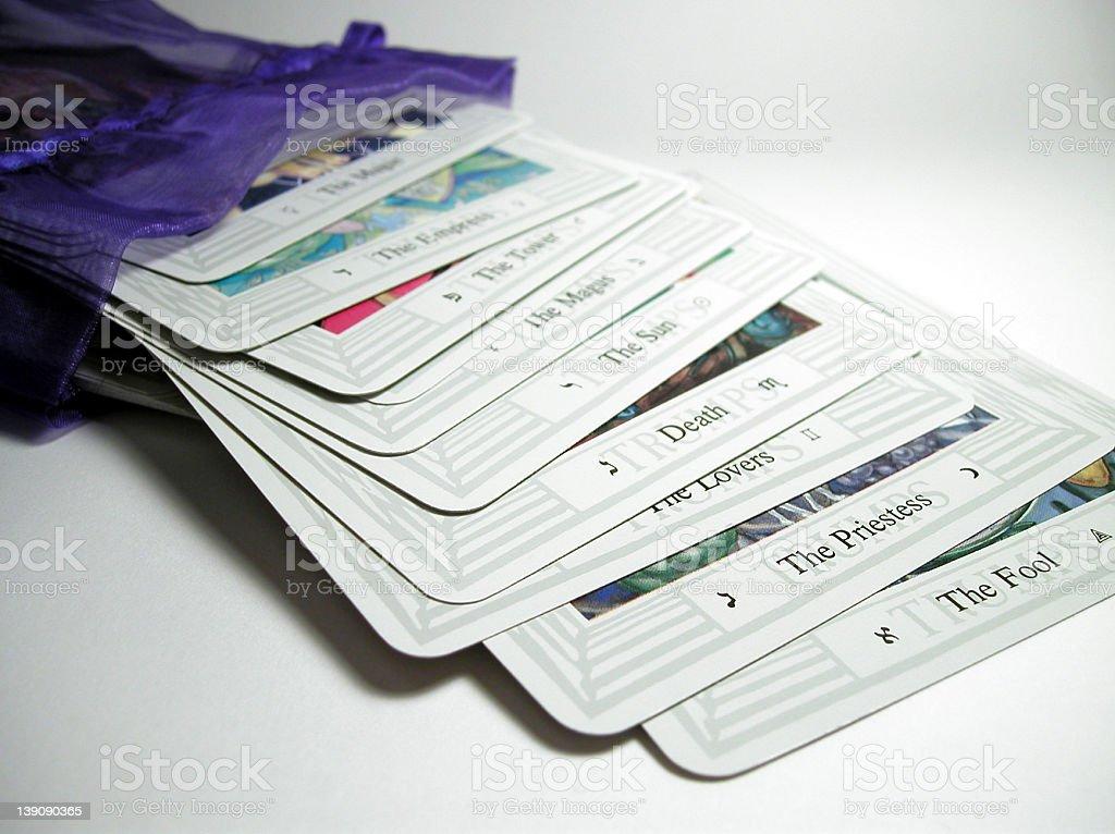 Spilled Tarot stock photo