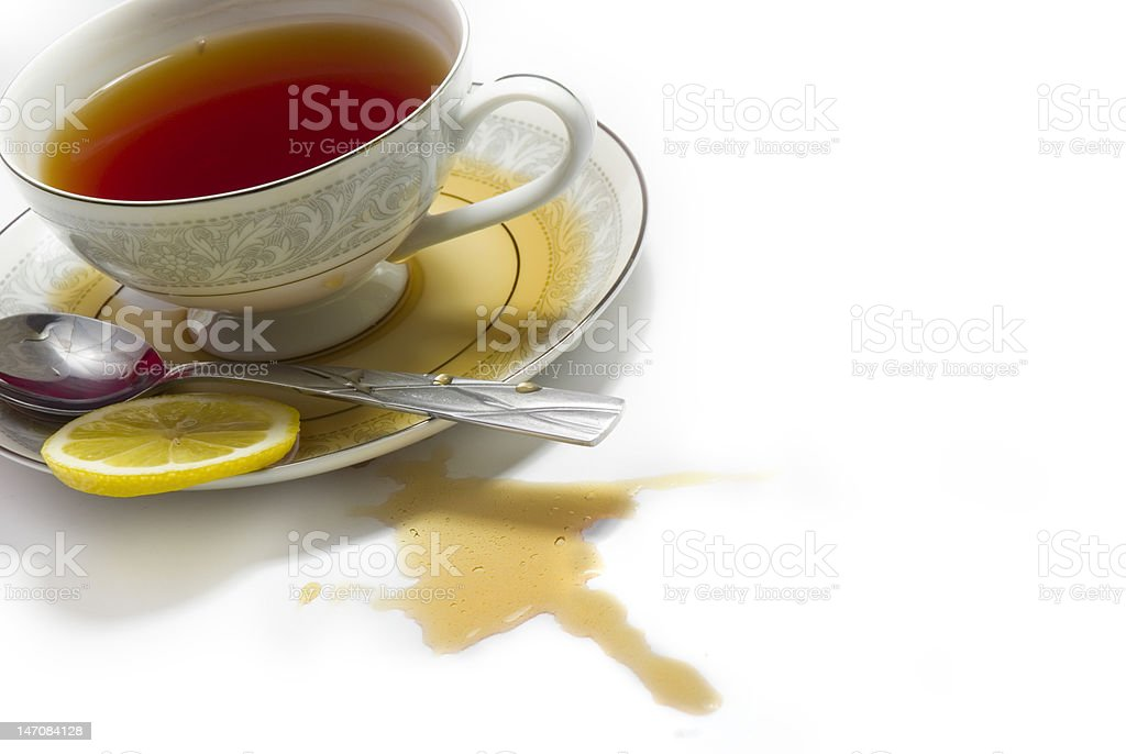 Spilled Tea stock photo