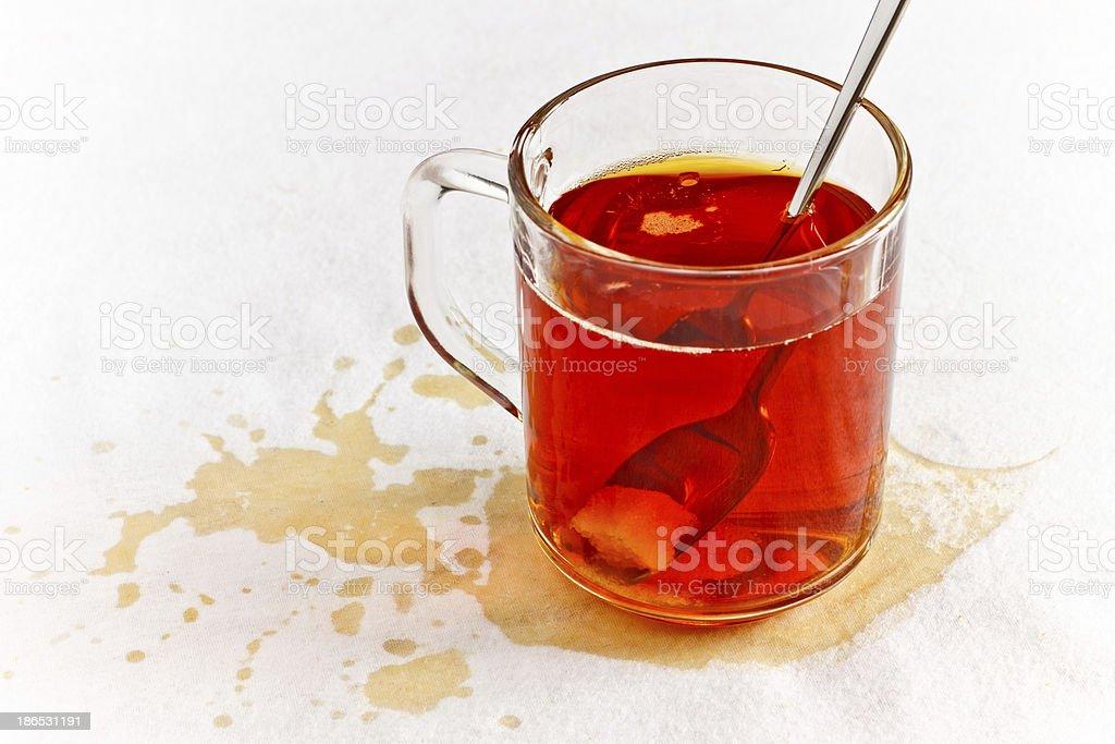 Spilled Tea royalty-free stock photo