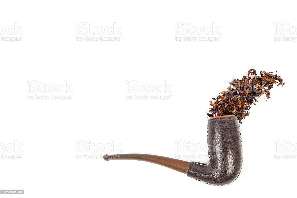 Spilled Tobacco from Smoking Pipe royalty-free stock photo