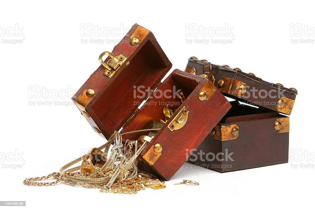 spilled treasure royalty-free stock photo