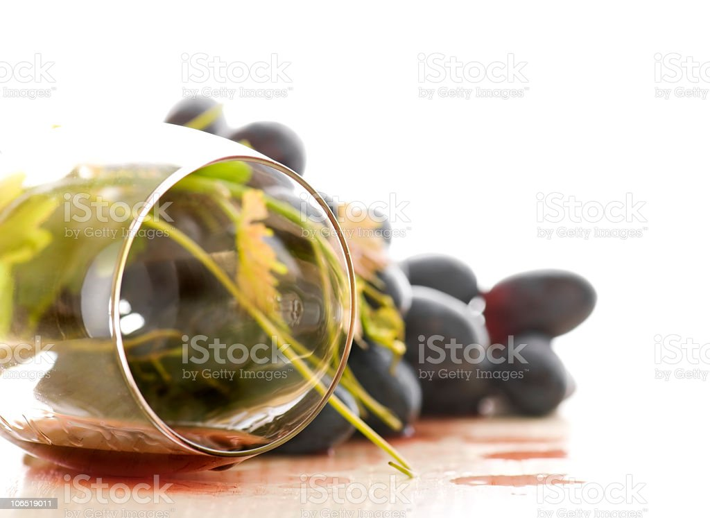 Spilled wine. stock photo