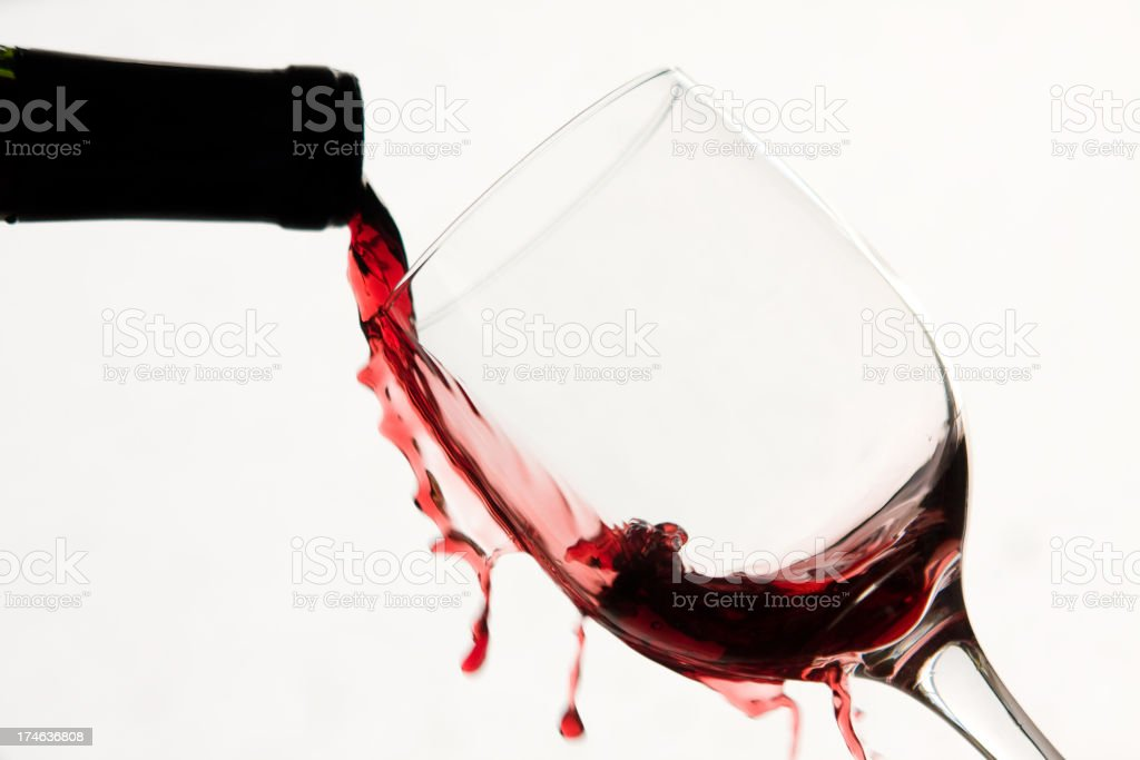 spilled wine royalty-free stock photo