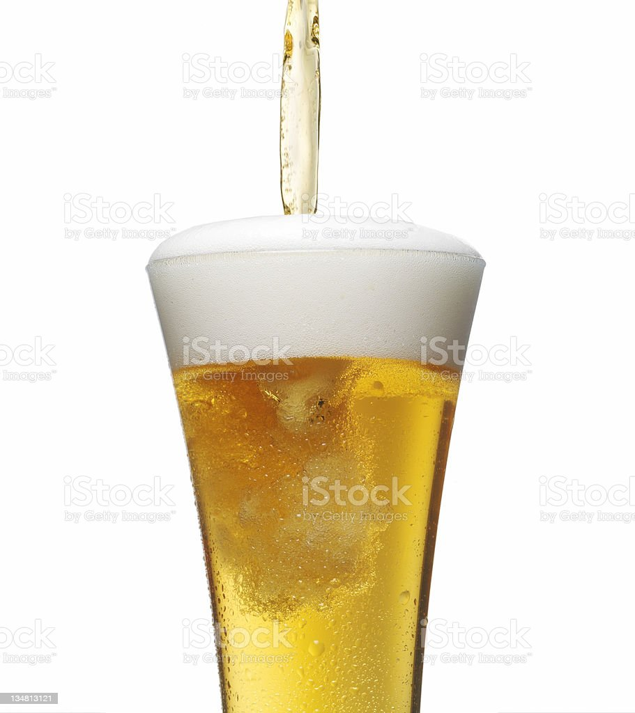 Spilling  beer 2 royalty-free stock photo
