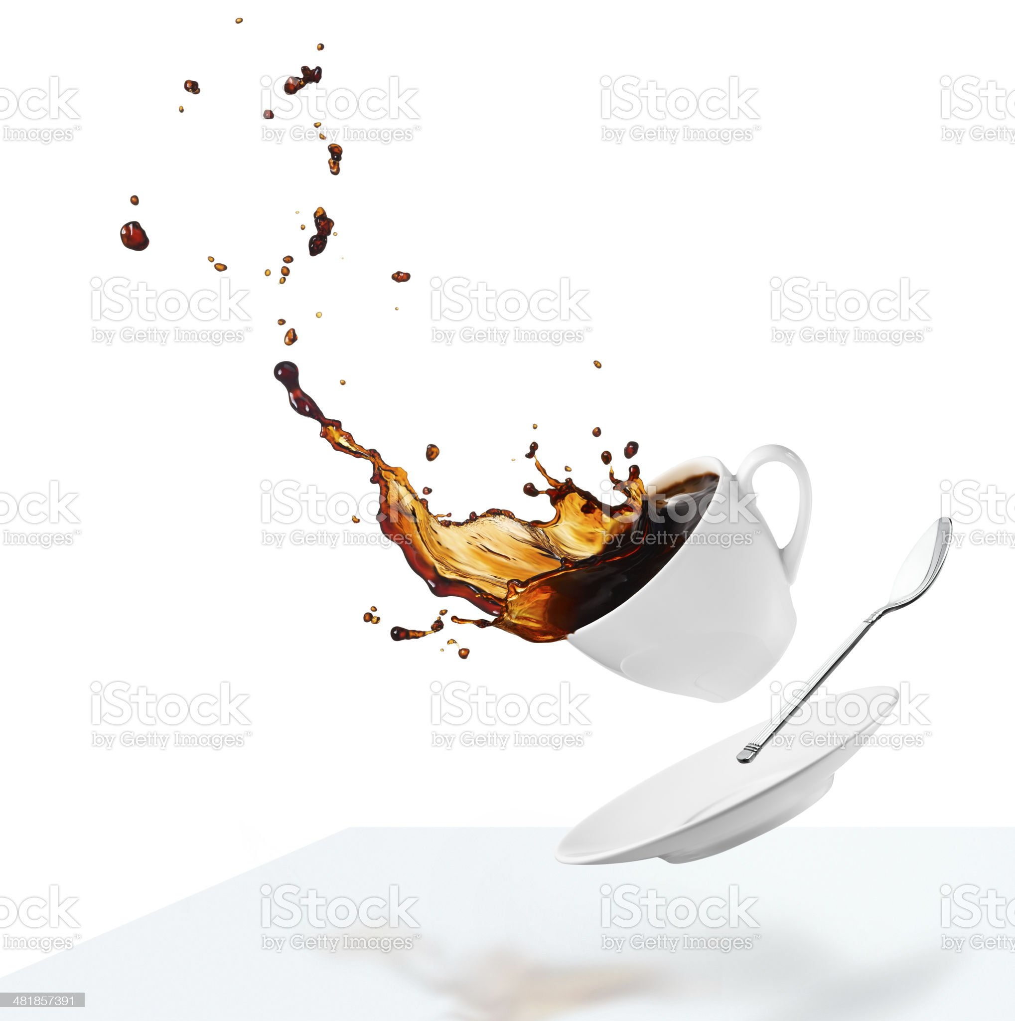spilling coffee royalty-free stock photo