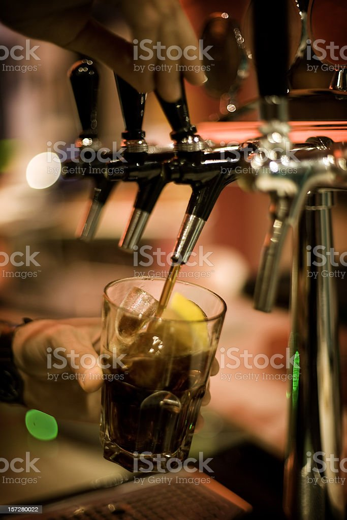 spilling drink royalty-free stock photo