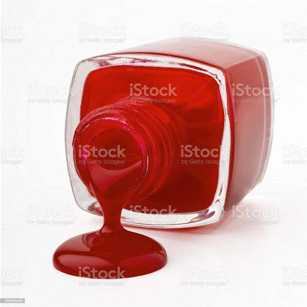 Spilling Polish stock photo