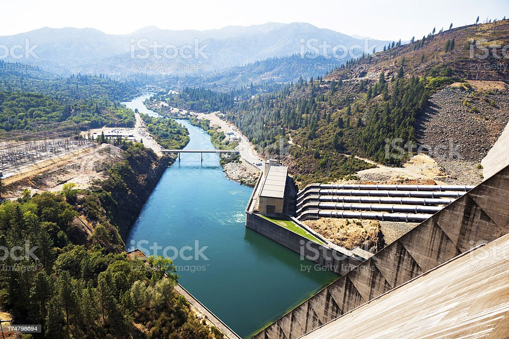 Spillway Hydroelectric Power Plant stock photo