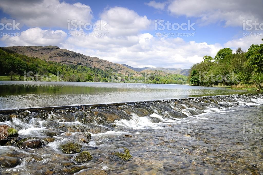 Spillway on a Lake royalty-free stock photo