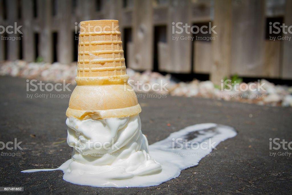 Spilt milk stock photo