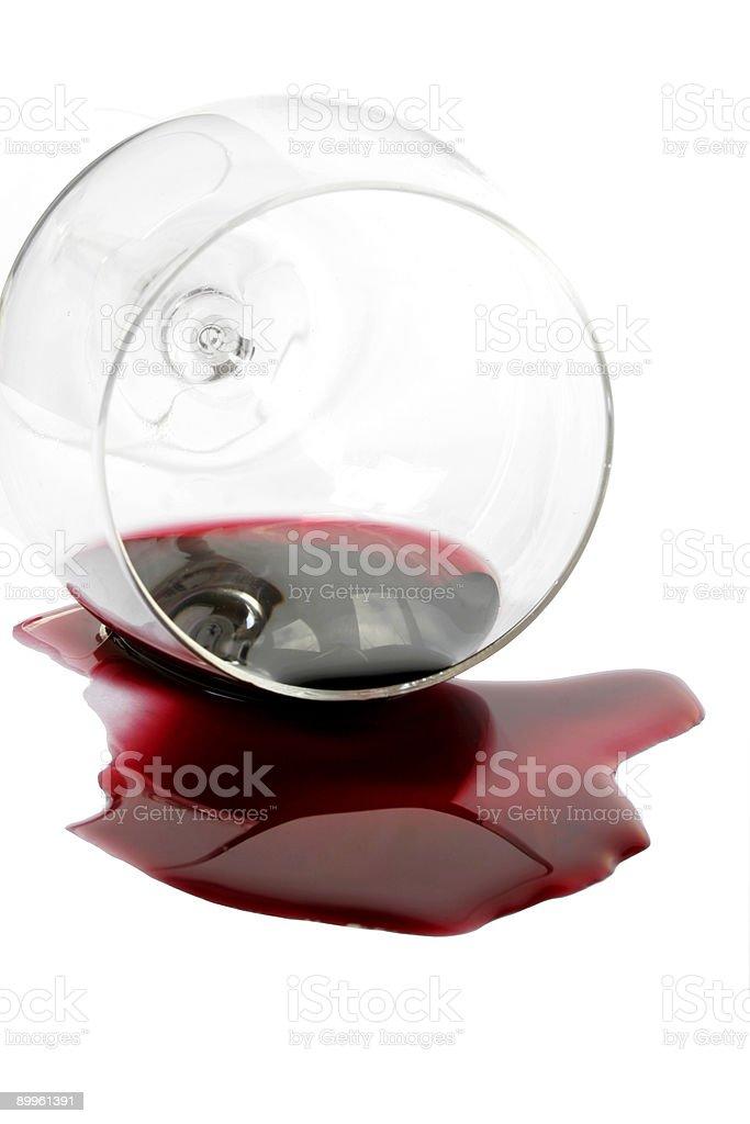 Spilt Red Wine royalty-free stock photo