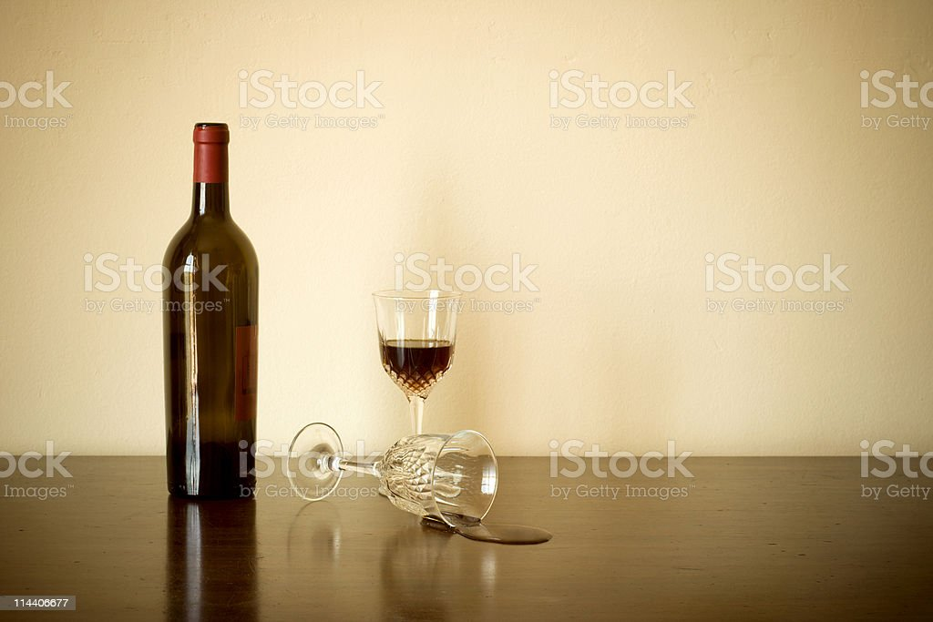 Spilt Wine royalty-free stock photo