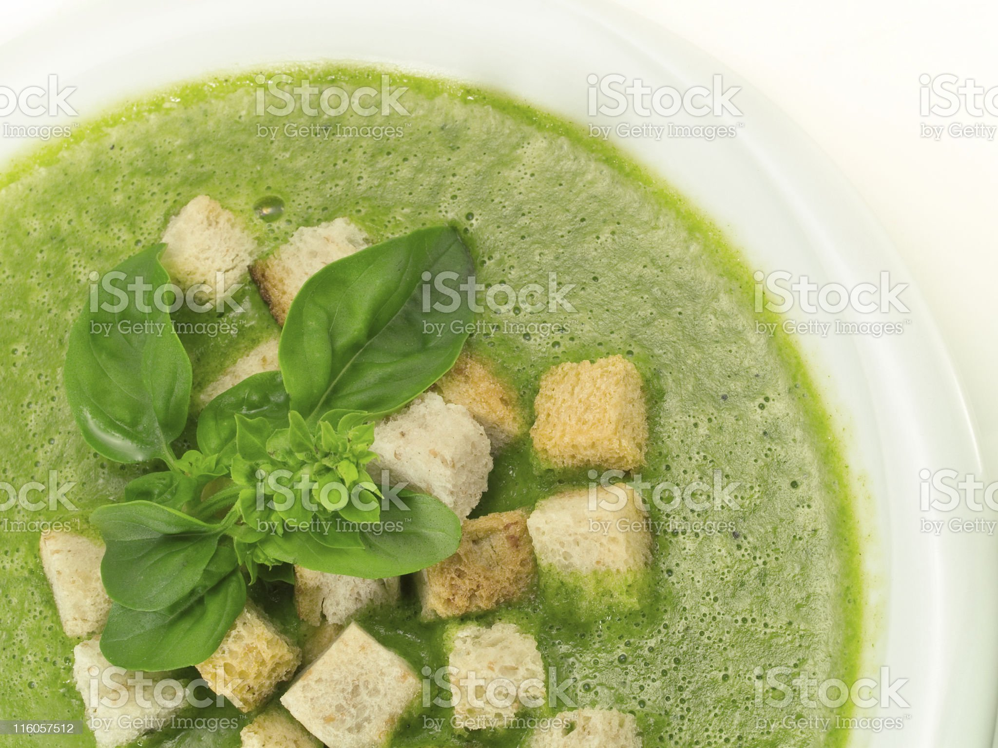 Spinach and Basil Soup royalty-free stock photo