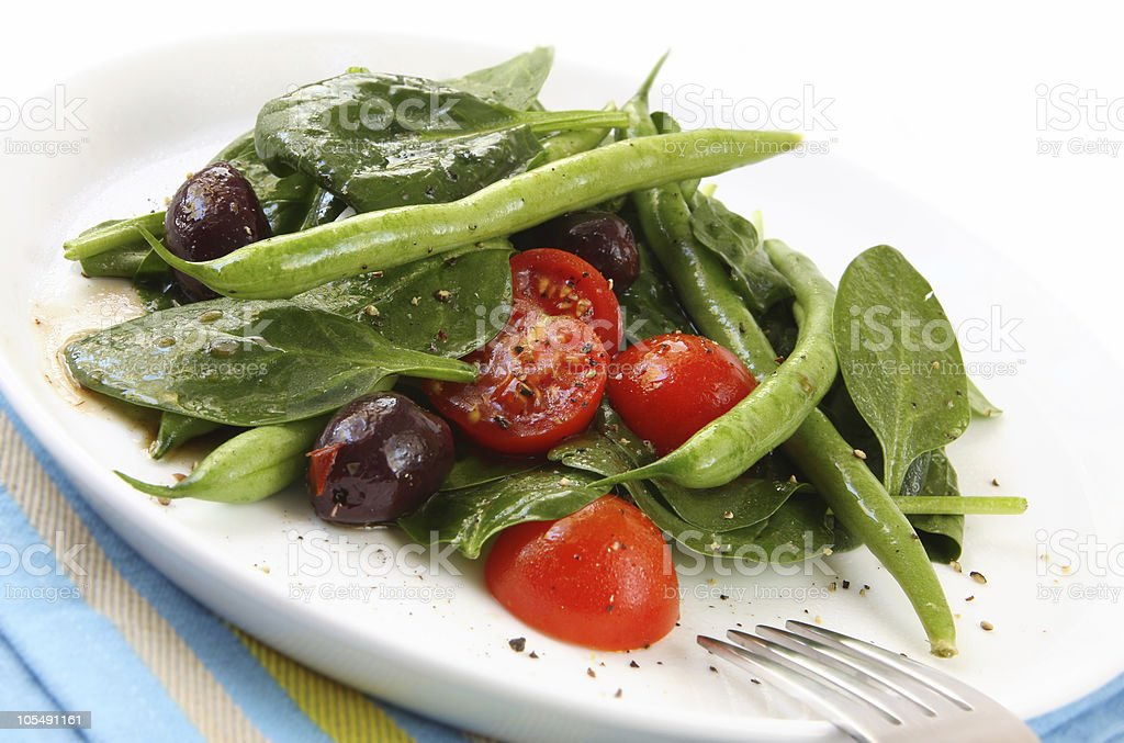 Spinach and Bean Salad royalty-free stock photo