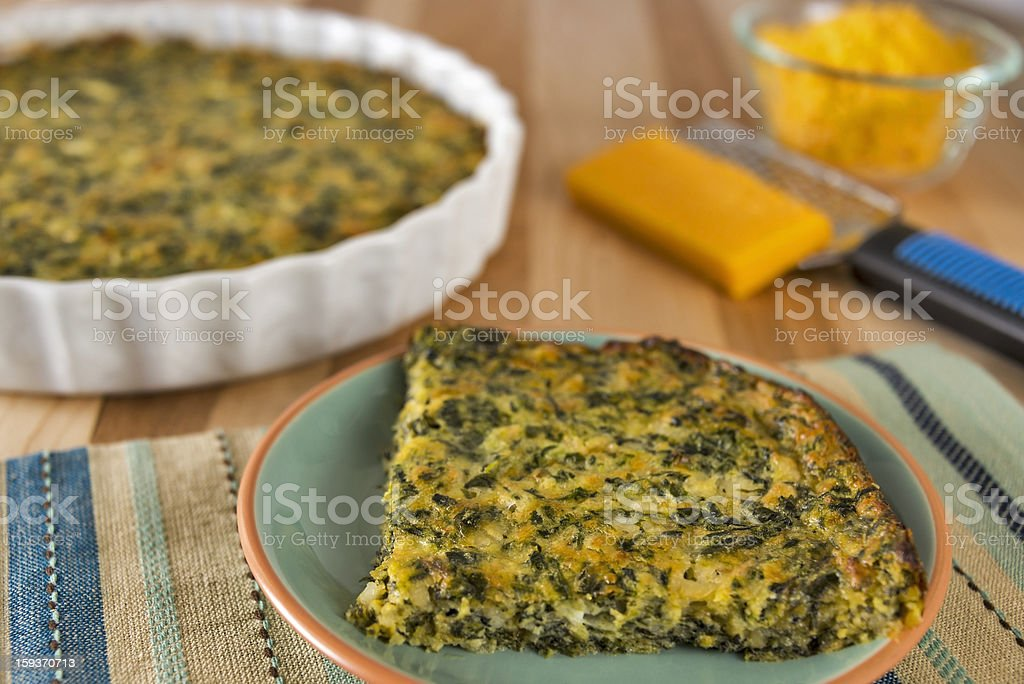 Spinach and cheese casserole royalty-free stock photo
