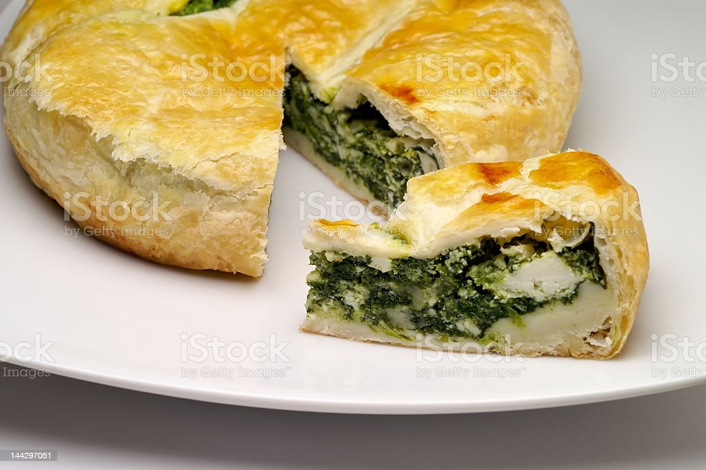 Spinach and cheese pie royalty-free stock photo