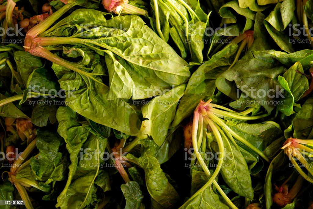 Spinach at farmer's market royalty-free stock photo