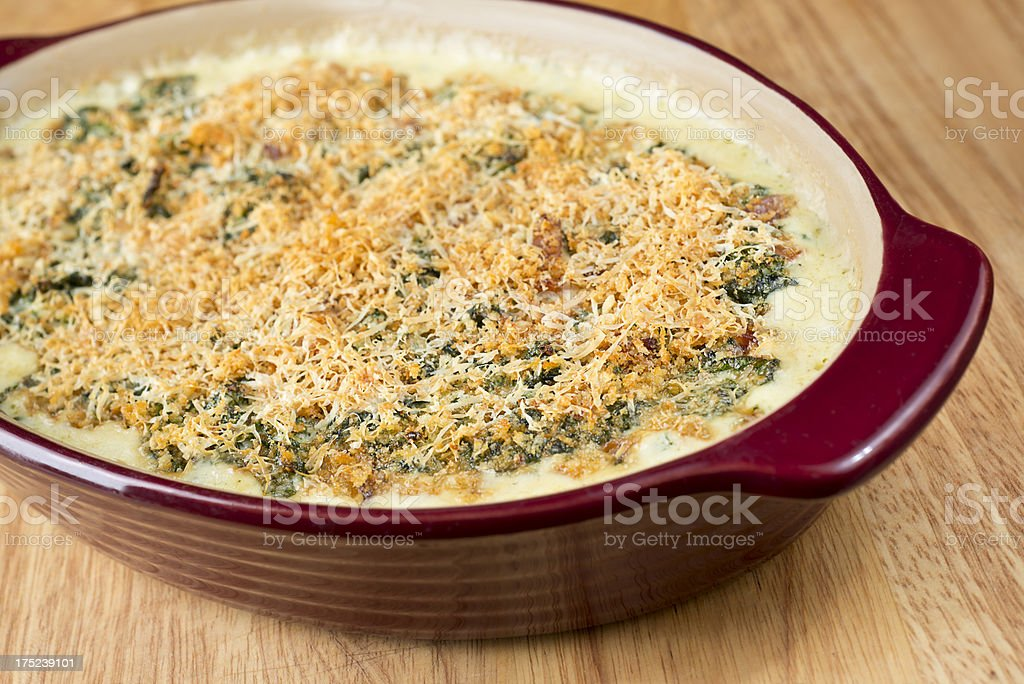Spinach Casserole stock photo