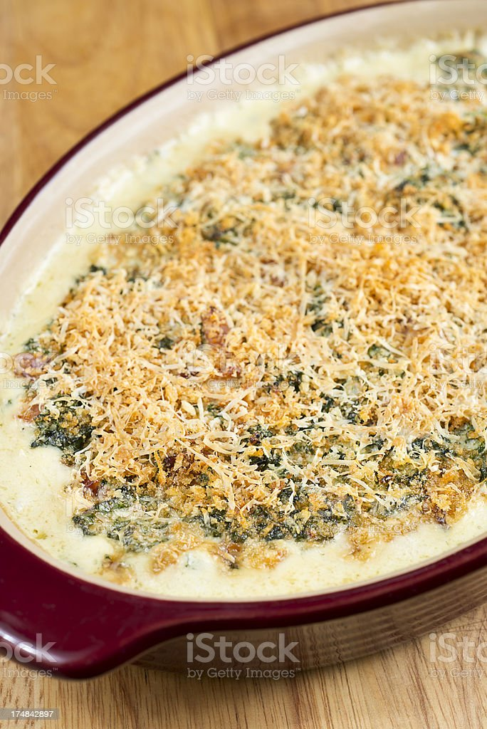 Spinach Cheese Dish stock photo