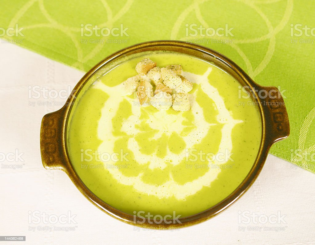 Spinach cream royalty-free stock photo