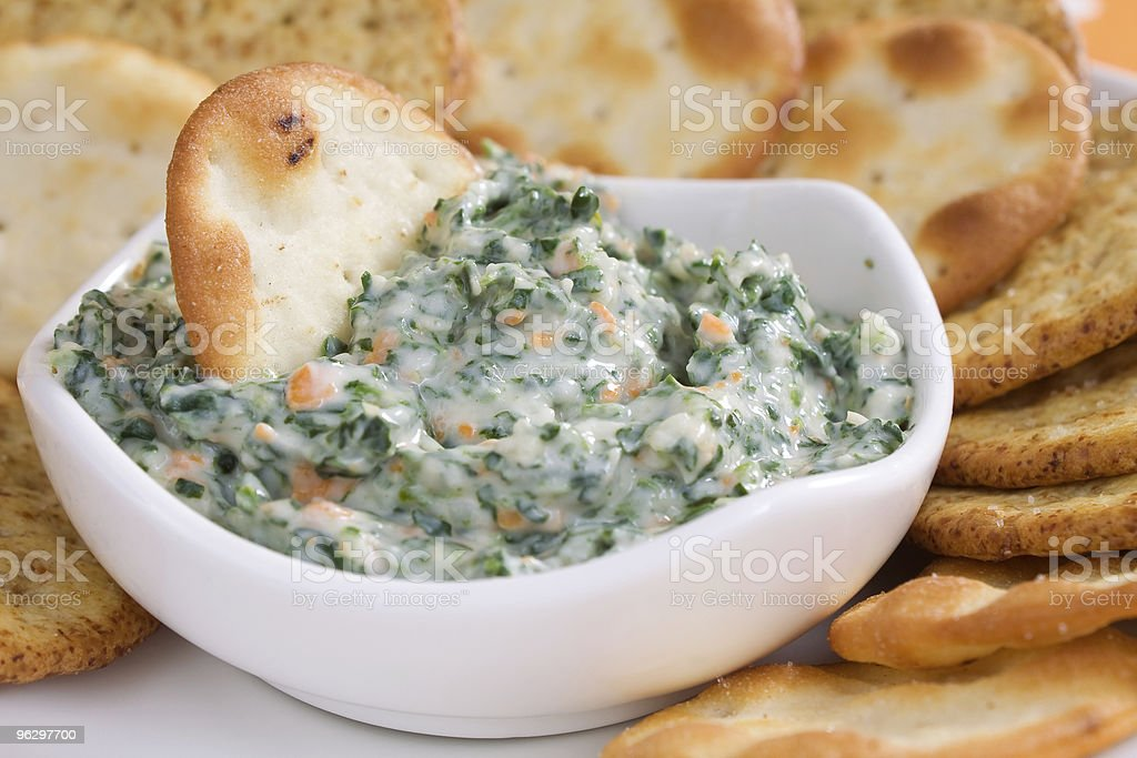 Spinach Dip & Crackers stock photo
