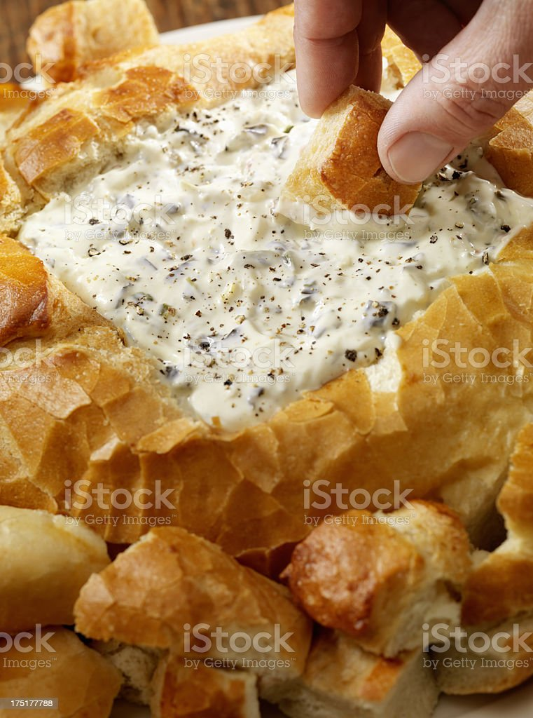Spinach Dip stock photo