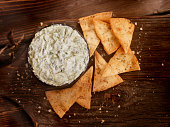 Spinach Dip with Baked Pita Chips