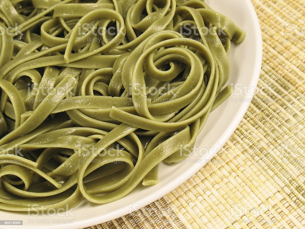 Spinach Fettuccine 2 stock photo