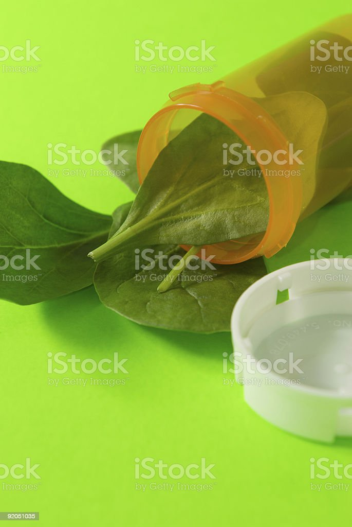 Spinach in a Bottle 2 royalty-free stock photo