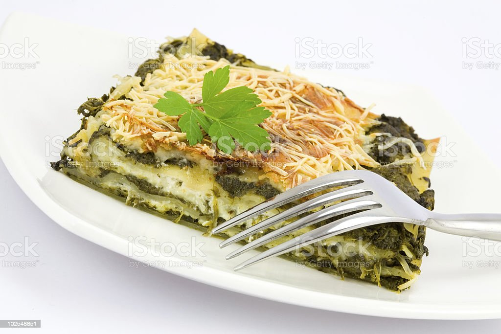 Spinach Lasagne royalty-free stock photo