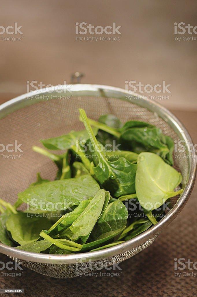 Folhas de espinafre foto royalty-free