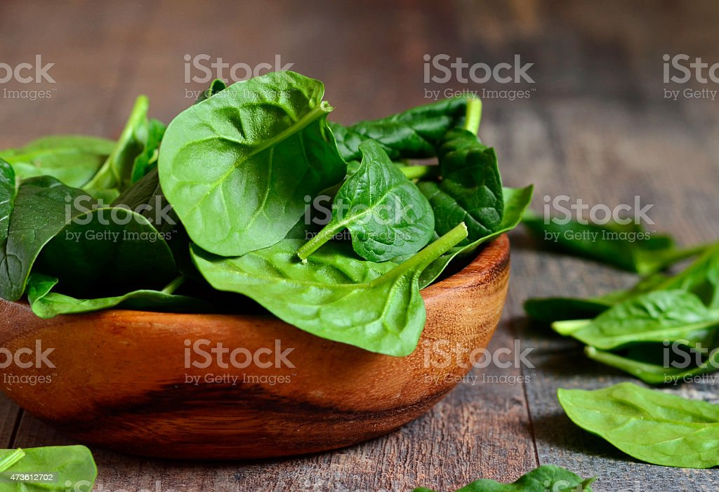 Spinach leaves. stock photo