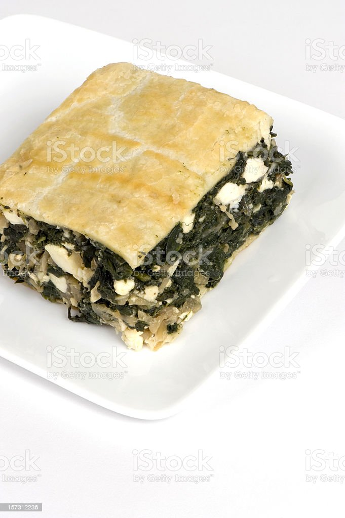 Spinach pie royalty-free stock photo