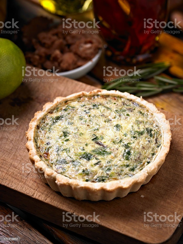 Spinach Quiche stock photo
