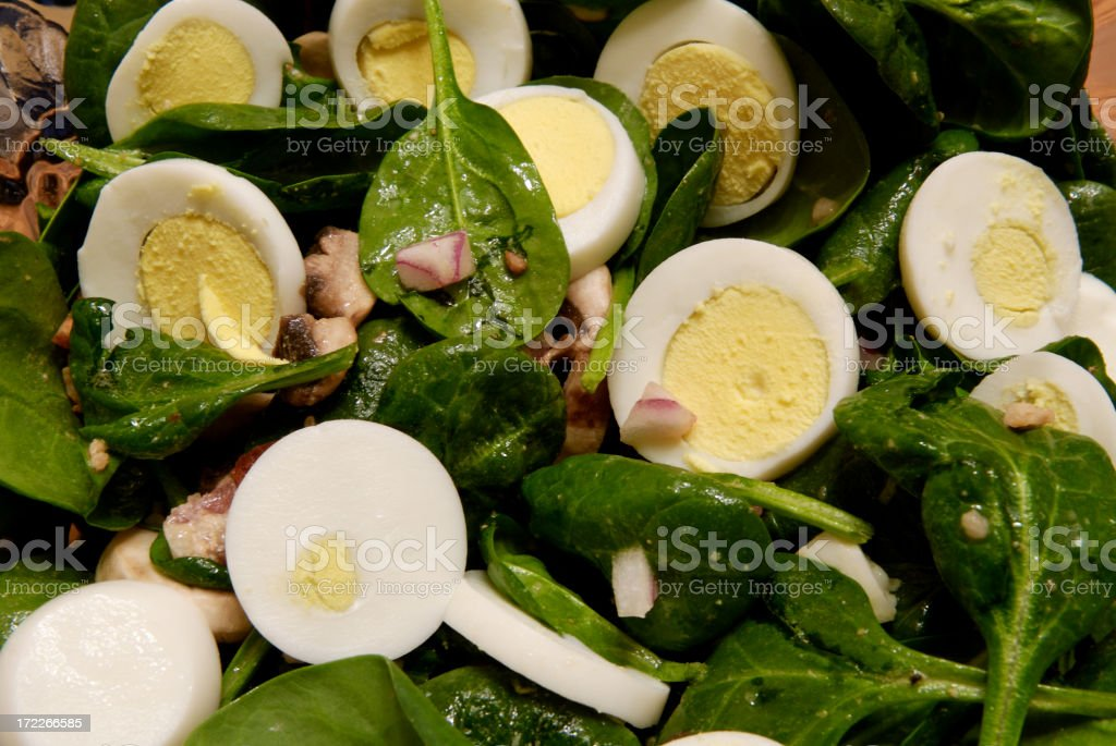 Spinach Salad Up Close royalty-free stock photo